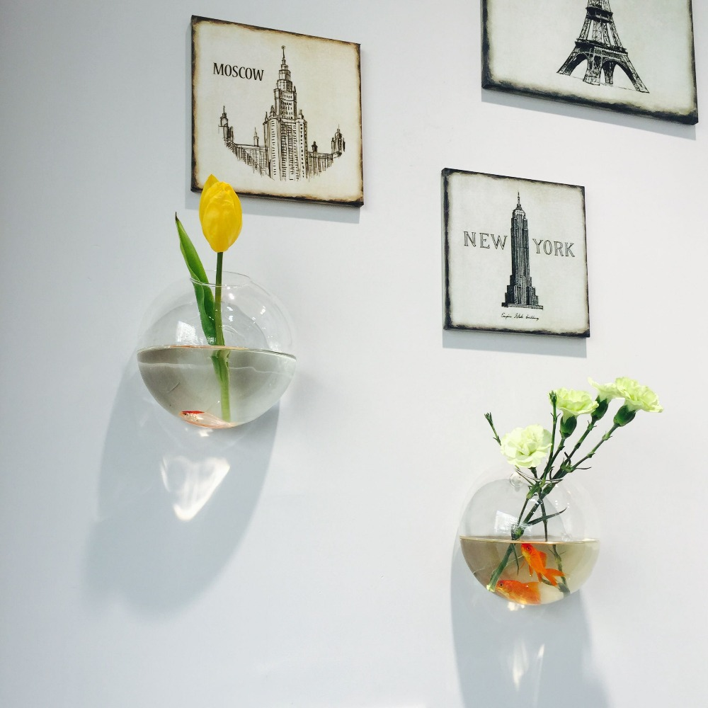 Wall mounted flower vase vanity 301 glass vase cylinder picture more detailed picture about 3pcsset interior decor home reviewsmspy