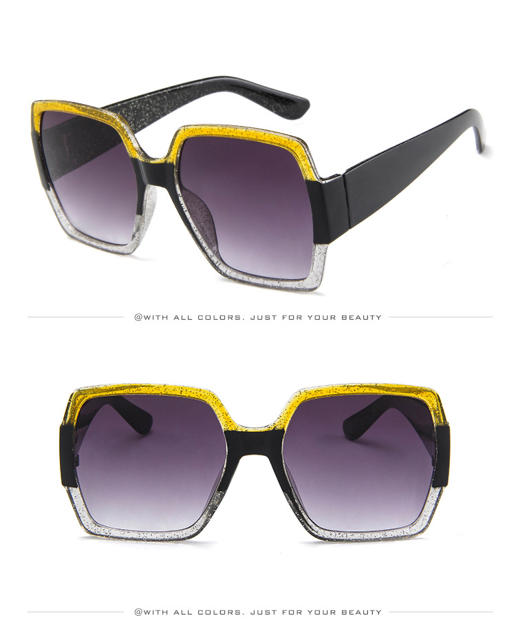 19 Oversized Sunglasses for Women Brand Designer Retro Sun glasses Red Green Shades Eyewear sunglasses woman 7