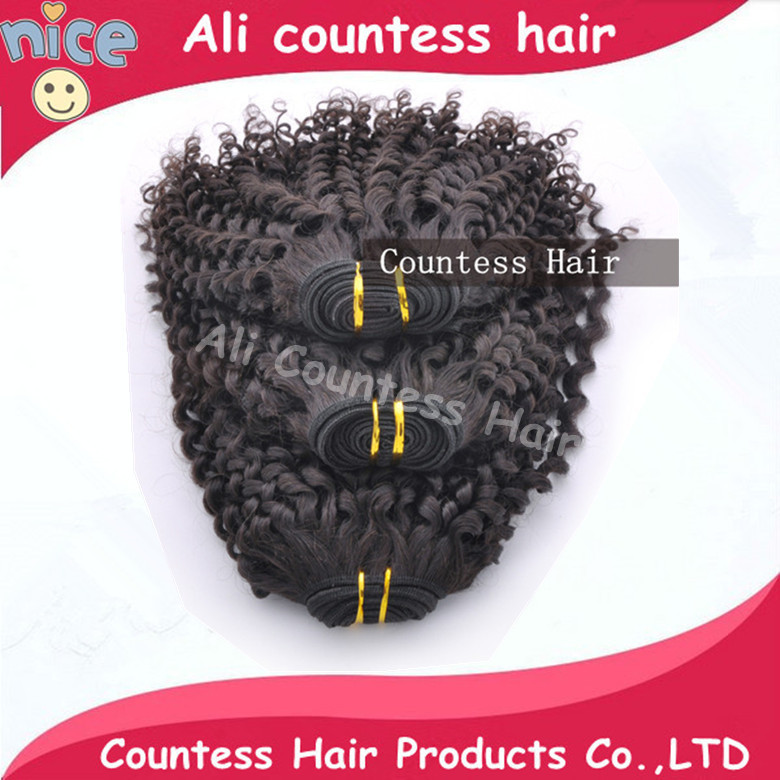tangle shedding kinky curly peruvian virgin har natural black color unprocessed human hair can dye - Queen beautyhair salon store