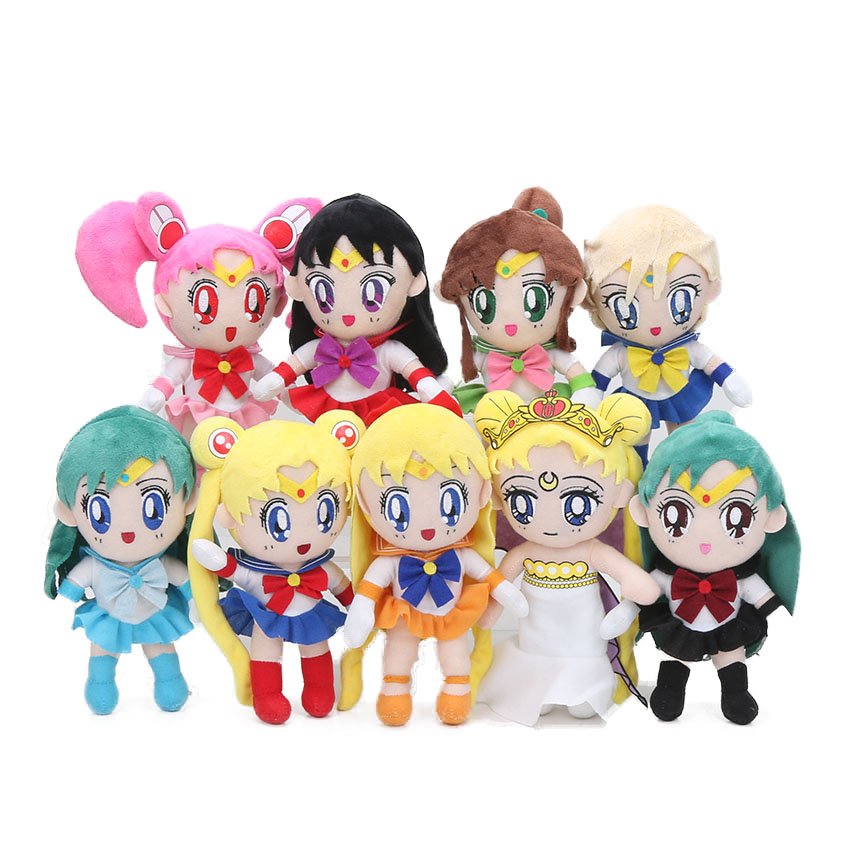 18 stücke 20 cm Chinbi Mond Venus Jupiter Merkur Uranus Sailor Moon Plüsch Spielzeug Sailor Weichen Zeichen Puppen juguetes de peluche bebe-in Filme und TV aus Spielzeug und Hobbys bei  Gruppe 1
