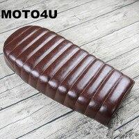MOTO4U For Honda CG125 CB125 CG250 Cafe Racer Seat Saddle Cover motorbike caterpillar Seat