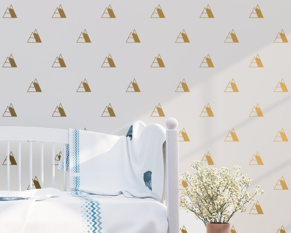 Little Mountain Set Patterned Wall Stickers Home Livingroom Special Decor Vinyl Wall Decals Art Designed Cute Wall Murals Wm-516