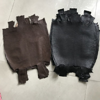 genuine leather craft Lizard skin brown black whole piece width about 30 35cm