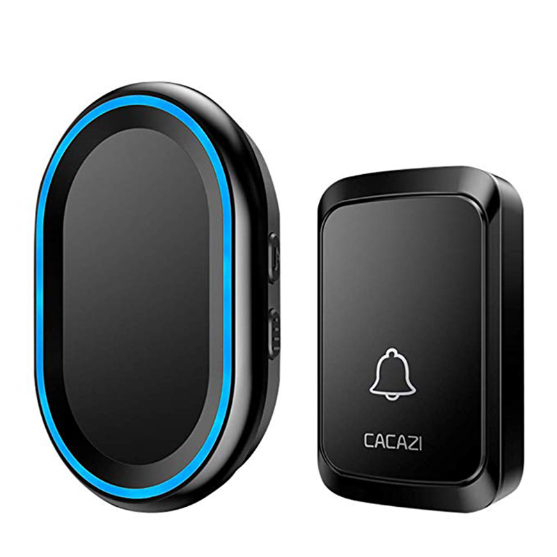 Cacazi Wireless Doorbell Led Night Light Home Wireless 300M Remote Waterproof Bell Muti-Ringtones Us Plug