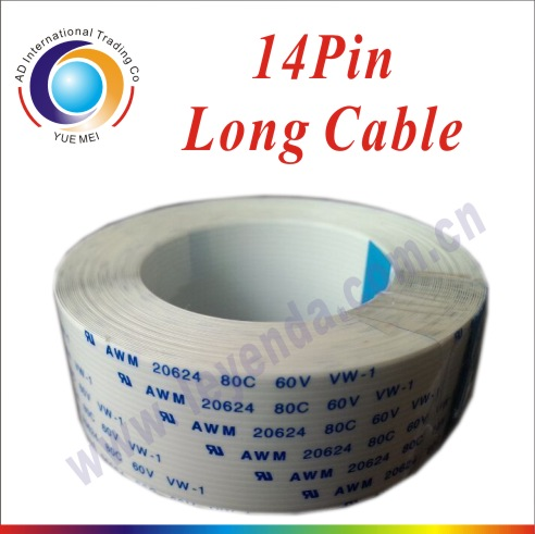 Printer Parts 4pcs Printer Infinity Data Cable 14Pins 5.5M Opposite Side FFC Flat Cable mainboard Long Data Cable SPT510