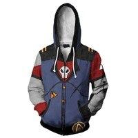 Game Anime Borderlands 2 GaigeGaige Cosplay Hoodie Unisex 3D Print Sweatshirt Hooded Hoodie Zipper Cartoon Sweatshirt Jacket