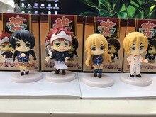 Shokugeki No Soma 4pcs/set Soma Yukihira Action Figures Food War Takumi Tadokoro Megumi Doll PVC figure Toy Brinquedos Anime 5CM