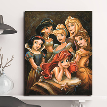 Cartoon Princess Gathering By Darren Wilson Canvas Posters Prints Wall Art Painting Decorative Picture Modern Home Decoration HD