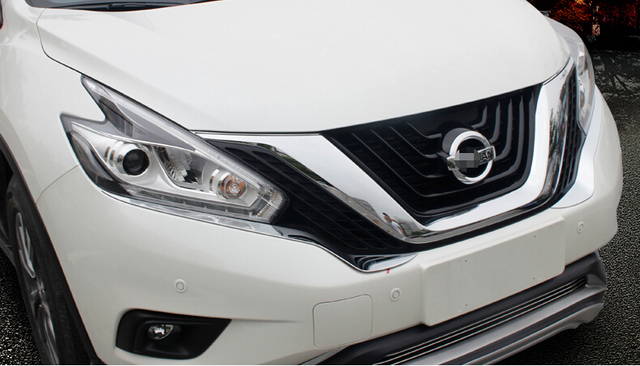 Car head light trim,auto front light trim for Nissan MURANO 2015,ABS chrome,2pc/lot,free shipping
