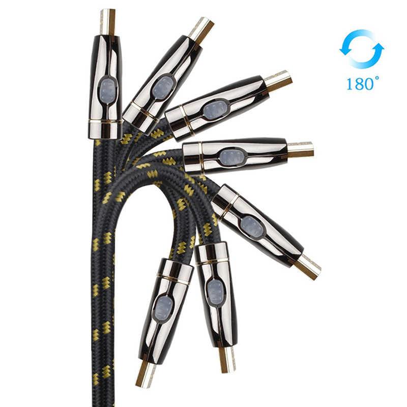 Суперскоростной плоский кабель HDMI к hdmi кабель 4K 2,0 кабель HDMI сплиттер переключатель для apple tv 4k ноутбук PS3 проектор 1m 1,5 m 2m 3m 5m 10m 15m