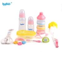 10pc/set newborn baby feeding bottles set for bebe boy girl of pacifier bottle clean stuff clip accessories nipple