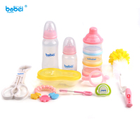 10pc/set newborn baby feeding bottles set for bebe boy girl of pacifier bottle clean stuff clip accessories nipple