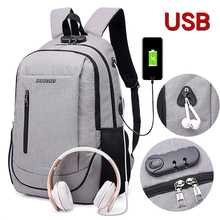 Mens Backpack USB Charging Smart Business Laptop Casual Student Bag