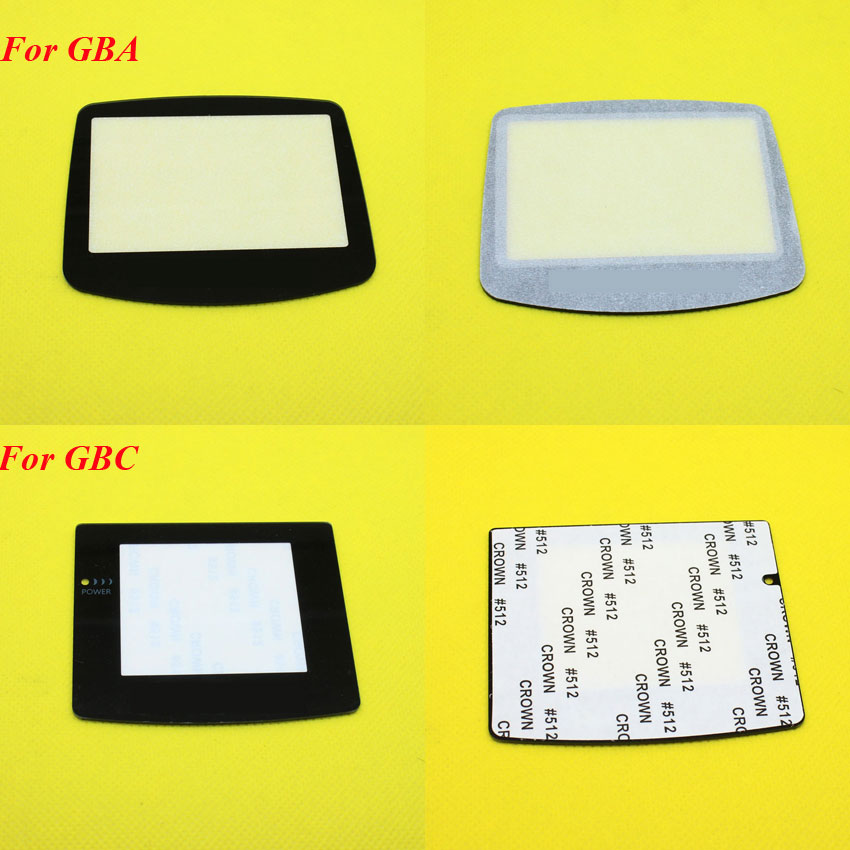 1Piece Plastic Glass Lens For GBC GBA Screen Glass Lens For Gameboy Advance Color Lens Protector W/ Adhensive
