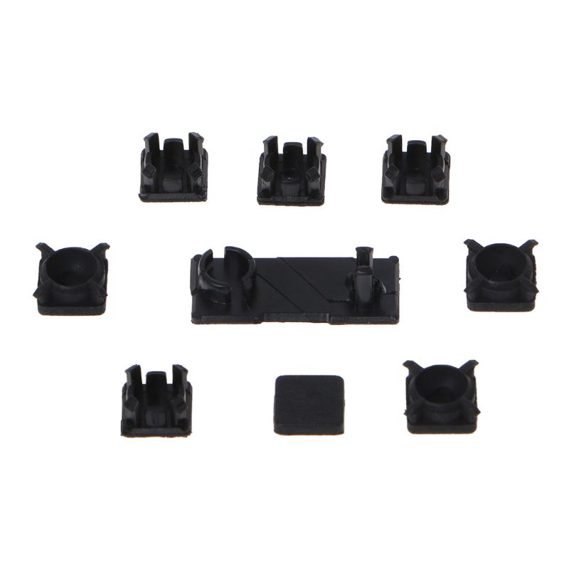 Rubber Feet Plastic Button Screw Cap Cover Set Replacement for Sony Playstation PS3 Slim 2000 3000 Controller(China)