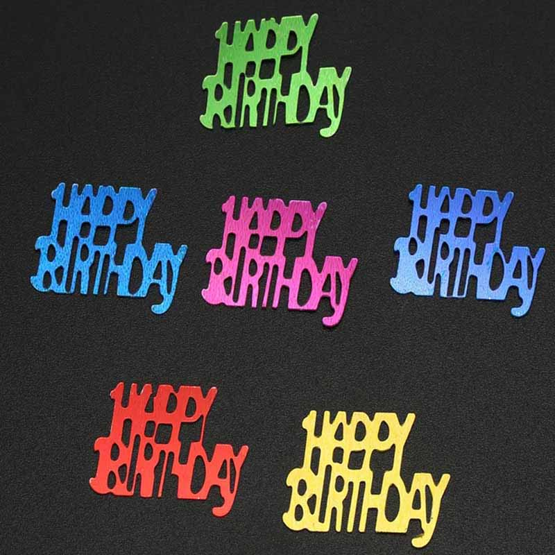 Sparkling Happy Birthday Anniversary Confetti Number 30 40 50 60 Years Adult Birthday Party Tabletop Table Scatters Decoration
