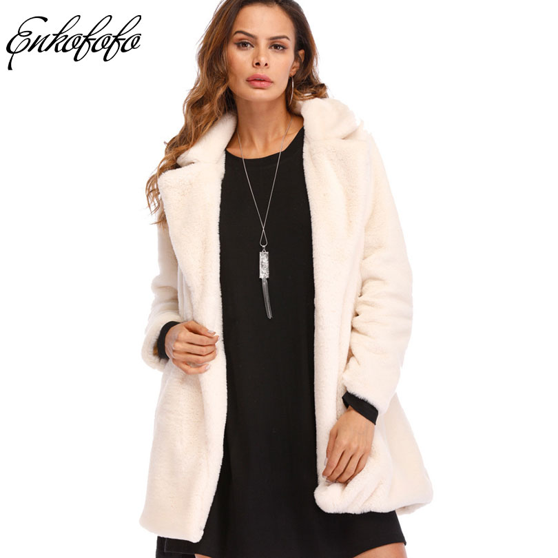 Winter Rabbit Faux Fur Jacket Women Fur Coat Label Collar Classic Generous Golden Ratio  ...