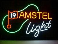 """SINAL de NÉON Para NEW AMSTEL LUZ Tabuleta VIDRO REAL BEER BAR PUB exibição Luz ao ar livre Sinais 17*14"""" Lâmpadas de néon e tubos     -"""