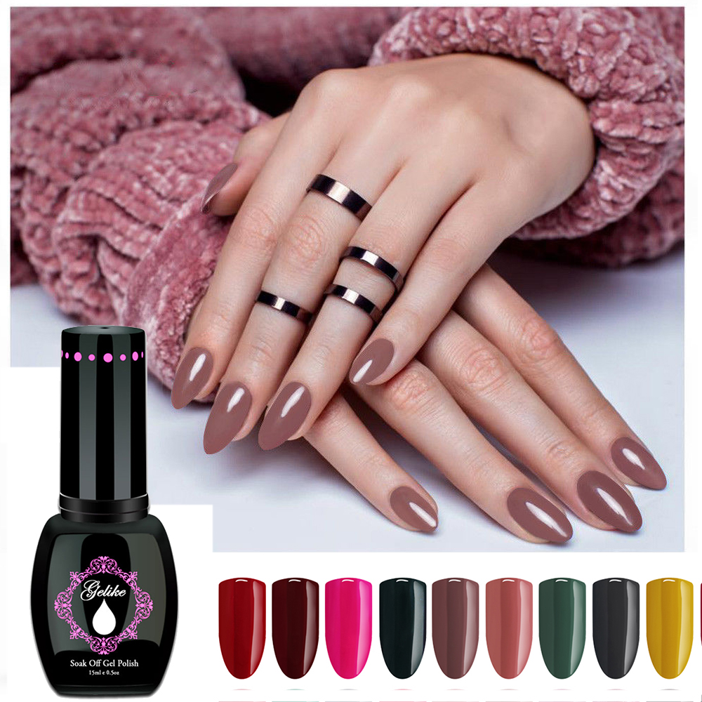 Gelike Professional  Series Colors 15ml Semi Permanentes UV Nail Gel Polish Soak Off Lacquer