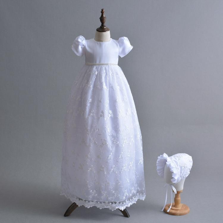 Robes bébé fille pour baptême infantile princesse dentelle robe de baptême nouveau-né bambin Bebes vêtements bébé robe princesse fête
