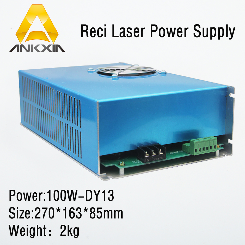 DY13 DY-13 100W Laser Power Supply For Reci W2 Z2 S2 V2 Co2 Laser Tube Cutting Engraving Machine reci power supply dy 10 80w 90w z2 w2 co2 laser tube cutting cutter 110v 220v diy part psu laser engraver engraving machine