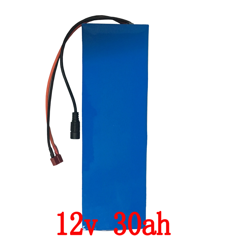 EU US no tax 250W 12V Lithium battery 30AH 12V 30000 MAH 30AH Rechargeable 12V Battery with 20A BMS 12.6V 5A charger free customs taxes high quality skyy 48 volt li ion battery pack with charger and bms for 48v 15ah lithium battery pack