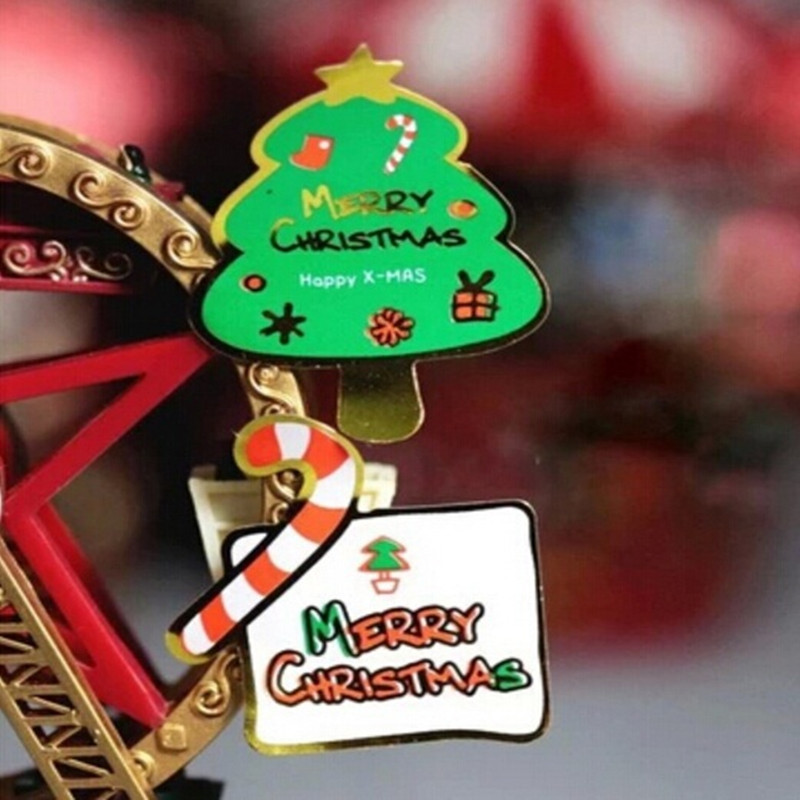 80PCS/Lot Merry Christmas tree Theme series DIY Multifunction Seal Sticker Gift baking packaging Label 40pcs lot new korea lovely animal style diy multifunction paper sticker decoration seal label