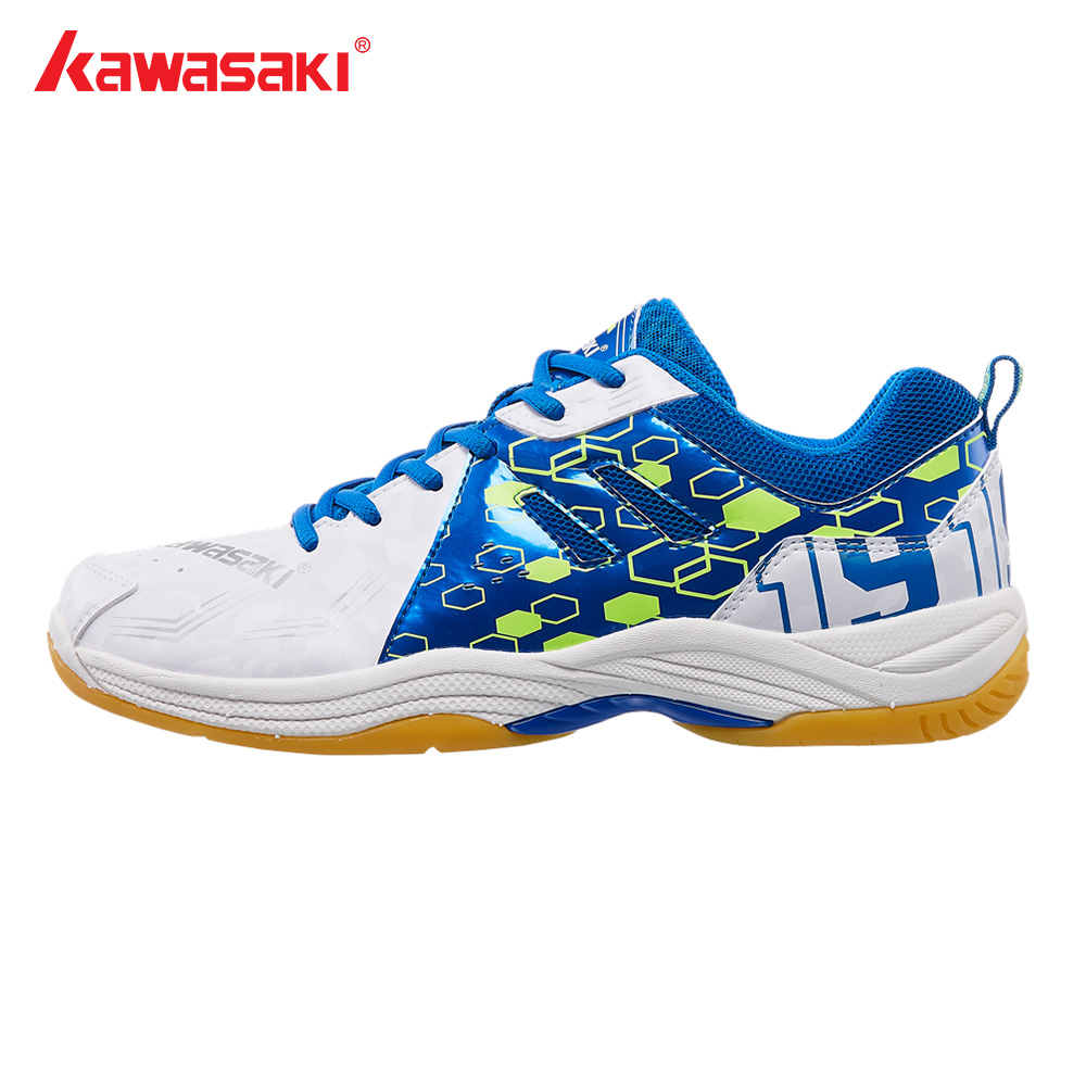 Kawasaki Professional Badminton Shoes for Men Women Indoor Court Sports Athlete Sneakers Light Anti-Slippery Breathable K-070 professional kumpoo unisex shoes badminton light cushioning comfortable sports sneakers for men and women breathable kh 205 l799