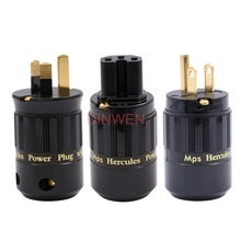 Conector de toma de corriente CA MPS Mains Hercules W M Shucko EU AU US IEC320 macho hembra toma de corriente eléctrica Salida de entrada AC250V 16A