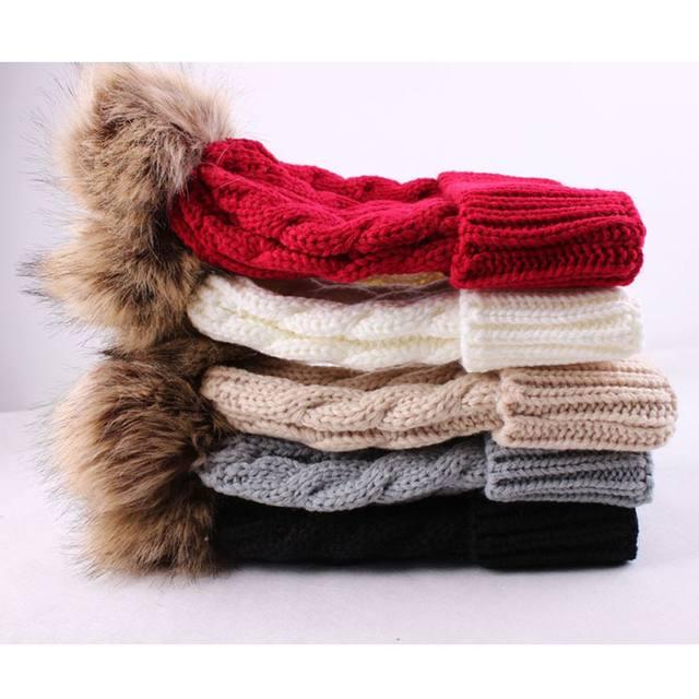 Tienda Online Lindo mujeres otoño invierno cálido tejer sombrero ...