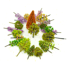30PCS/LOT Colorful HO N OO Scale Model Trees Architectural Building Diorama Train Green Landscape Sand Table Layout ABS Plastic 30pcs lot 2018 colorful ho n oo architectural scale model abs plastic green trees 3 10cm model train landscape tree layout