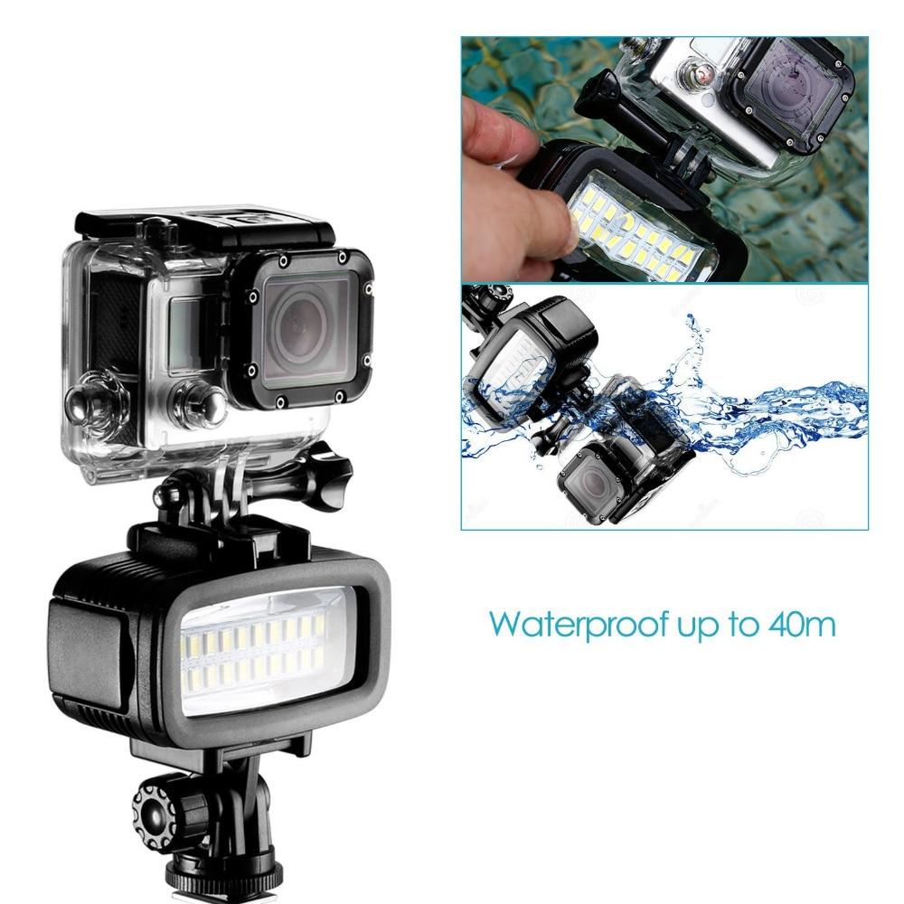 Neewer Video LED-20 20 шт. подводная 40 м лампа для дайвинга Водонепроницаемая Видео Светодиодная лампа для DV камеры Gopro Hero4 3 и других экшн-камер