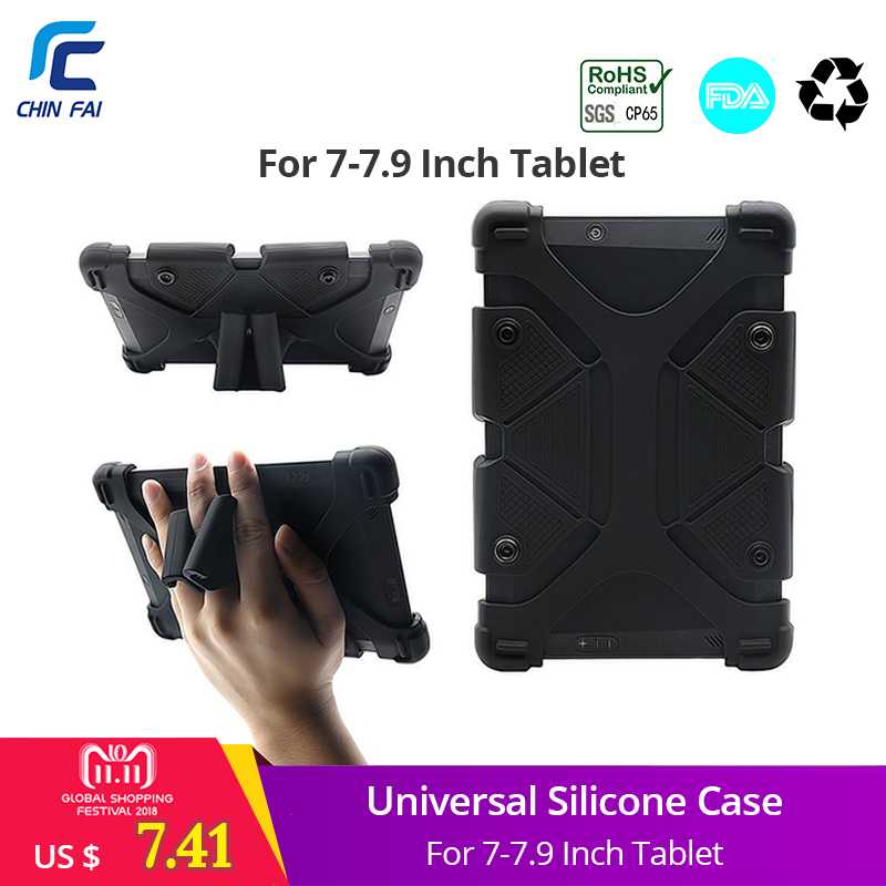 Universal Tablet Case for Kindle Fire 7 Silicone Case for Aoson S7/S7 Pro 7 inch Lenovo Tab2 A7 Samsung SM-T285 7 inch Tablet 360 rotating pu leather case for aoson m721 m725g m787t 7 0 universal 7 inch tablet android cover for kids m4a92d