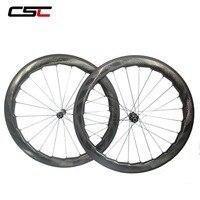 NSW 454 ямочка углерода трубчатые колеса 58 мм карбоновый шоссейный велосипед колесная