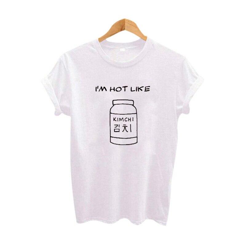 Tumblr Korean Harajuku Food T shirt Spicy Veganer Funny Graphic Tees Women Clothes Tee shirt Black White T-shirt