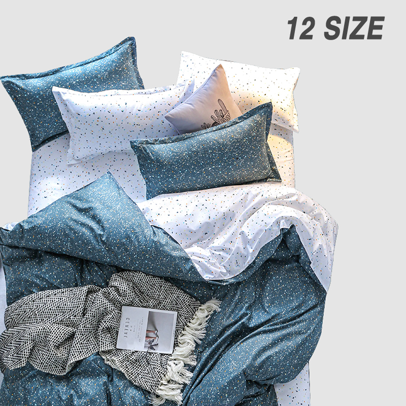 Custom Soft Bedding Sets USA Russia Europe King Queen Size Simple Duvet Cover Set Soft Sheet Set Single <font><b>140*200</b></font> bed linen Star image