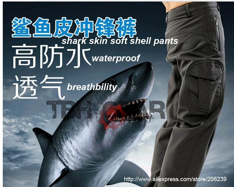 ФОТО ESDY Shark skin soft shell pant waterproof & windproof fleece outdoor pants color optional+Free shipping(SKU12050426)