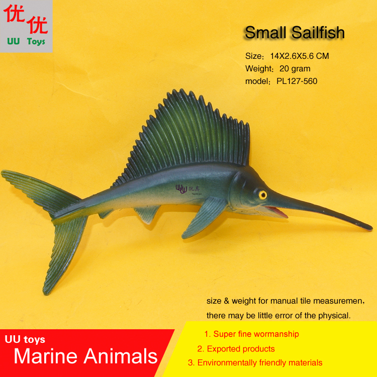 Small Sailfish fish Simulation model Marine Animals Sea Animal kids gift educational props (Rhincodon typus) Action Figures easyway sea life gray shark great white shark simulation animal model action figures toys educational collection gift for kids