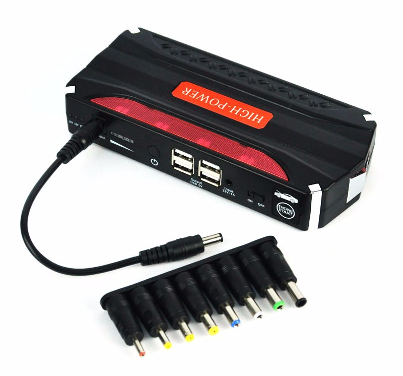 Car Jump Starter 12800mAh 12V 4USB battery charger pack for auto vehicle starting And Laptop Power Bank Multi-funtion