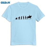 GILDAN O Neck Horse Riding Evolution Men T Shirt Drop Shipping Great Men S Tees Shirt