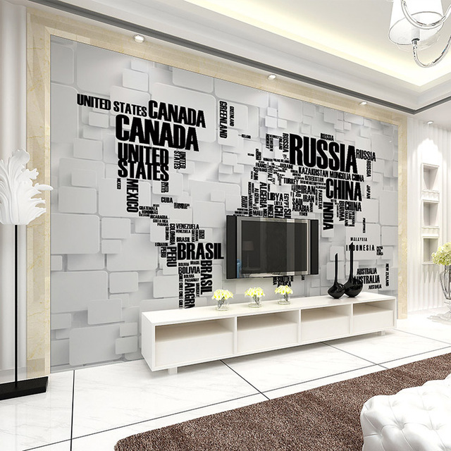 Fashion 3d wallpaper world map photo wallpaper wall mural kids fashion 3d wallpaper world map photo wallpaper wall mural kids children room decor club bar bedroom gumiabroncs Gallery