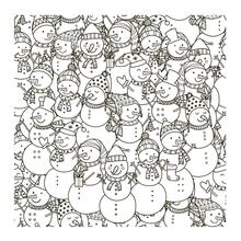 AZSG Snowman doll Clear Stamps For Scrapbooking DIY Clip Art /Card Making Decoration Crafts