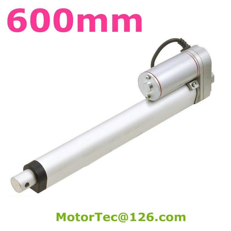 600 мм ход 1500N 150 кг грузоподъемность высокая скорость 12 В 24 В постоянного электрического линейный привод, линейный привод