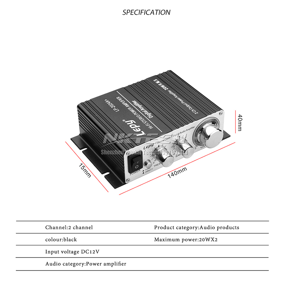 Lp 2024a Lepy Digital Audio Amplifier Power Amp Hi Fi Home Stereo Lepai Tripath Ta2020 Class T Mini Hifi Features It Is Built With High Speed Relays To Protect Ic And Loudspeaker Automatically Cut Off When The Dc Voltage Higher Than 144 V Or