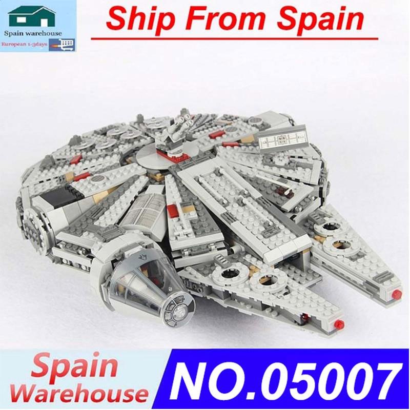 05007 Millennium Force Awakens Falcon Model Star Ship Building Blocks Set Star Plan Wars Series 75212