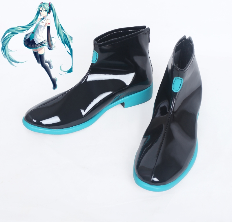 New Vocaloid Hatsune Miku Cosplay Shoes Ankle Boots Halloween Party Anime for Women