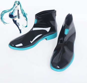 New Vocaloid Hatsune Miku Cosplay Shoes Miku Cosplay Ankle Boots Halloween Party Anime Shoes for Women anime voltron legendary defender keith boots cosplay shoes custom made