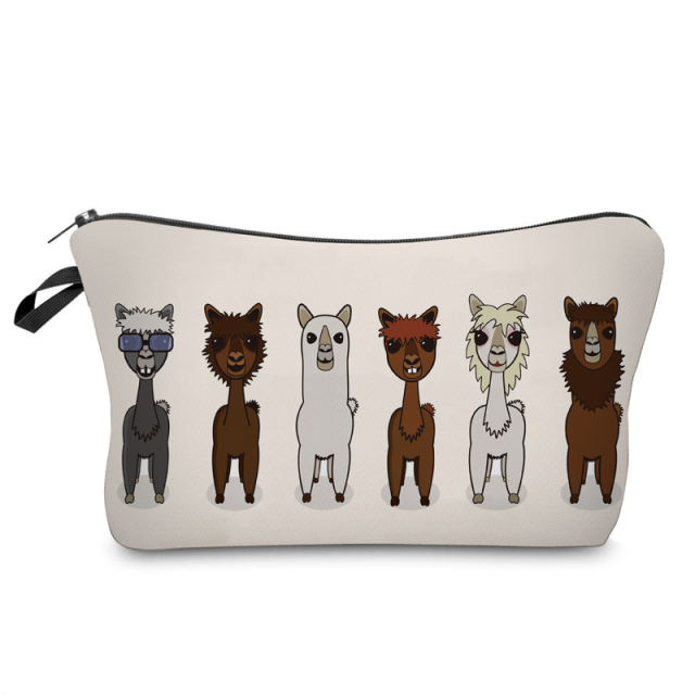 Cool Llama Crew Cosmetic Bag