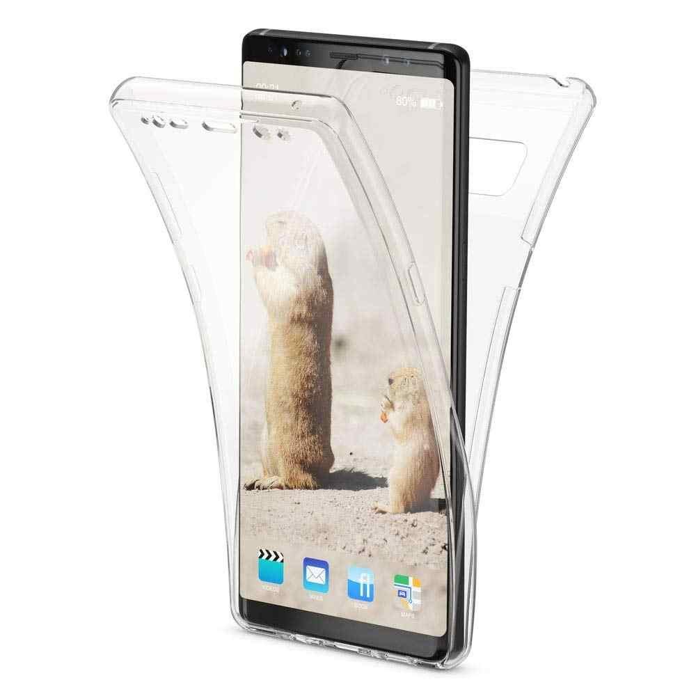 עבור סמסונג גלקסי J4 J6 J8 J2pro 2018 J3 J5 J7 2017 2016 ראש ברור כיסוי רך TPU טלפון תיק coque 360 מעלות מלא מקרה