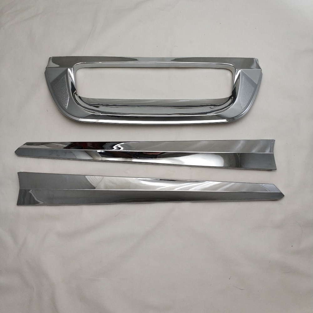 For Isuzu DMax 2012-2018 Chrome Rear Trunk Door Handle Bowl Tailgate Boot Cover Trim Insert Tail Gate Kit Molding Car Styling